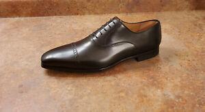 New! Magnanni 'Benjamin' Cap Toe Oxford Black Leather Mens Size 11.5 M MSRP $325