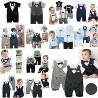 Baby Boy Wedding Christening Formal Party Tuxedo Suit Outfit NEWBORN 0000 000-2