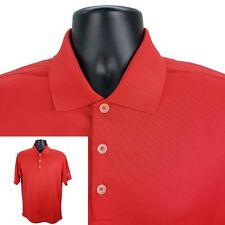 NIKE GOLF Men's M Medium Dri-Fit Performance Polo Shirt Short Sleeve Solid Red
