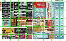 NH092 DAVE'S DECALS 1/2 Set N SCALE BIZ SET WHISTLE STOP CAFE SODA & EXPRESS CO