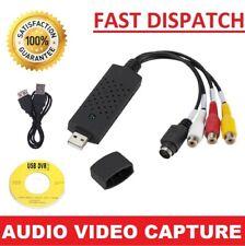 USB Convertidor de Audio Video VHS a DVD Captura Completo SCART Kit con contactos & Cable