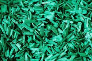 Bark Mulch & Wood Chips Green Colour 1/2litre(0.1gallon)Decorative