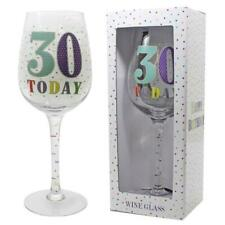 Star Design 30th Birthday Wine Glass - 30 Today