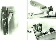 "SET OF 3 - LOT #25  B&W 4X6 PHOTOGRAPHS - RACING AIRPLANES ""IKE"" & AVIATION"
