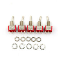 5 x Mini Momentary (On)Off(On) 6Pin Toggle Switch Model Railway SPDT 6mm IYTRFR