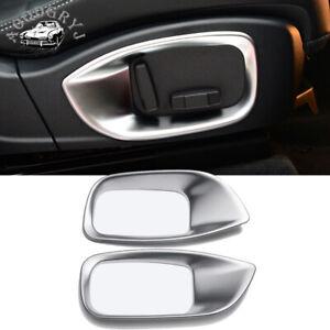 1 pair ABS Matte Chrome for Jaguar XE 2015-2018 Seat adjustment frame cover trim