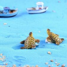 2Pcs Mini Sea Turtle Model Resin Turtle Figurines Fish Tank Decoration Cute