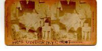 Antique Victorian 1897 Risque He's Under My Corset Kilburn Stereoscope Card