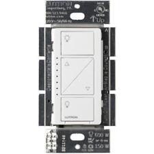 Lutron Caseta Wireless 150-Watt Single Pole Wall Dimmer White PD-6WCL-WH-R