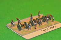 15mm napoleonic / french - 3 guns & crews (as photo) - art (46736)