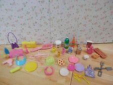 Huge Barbie House Kitchen Accessories Lot EGGS PANCAKE MIX PASTA MILK BUD VASE +
