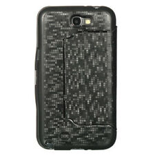 For Samsung Galaxy Note II 2 HARD Phone Case with Flap Stand Cover Black Matrix