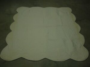 """Vintage Ivory Bedspreads 84"""" by 64"""", set of two"""