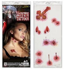 Vampire's Kiss Temporary Tattoo - Vampire Bite Bisswunde Cross 6tlg Halloween