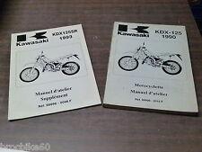 MANUEL REVUE TECHNIQUE D ATELIER KAWASAKI KDX 125 125KDX SR 1990-1993