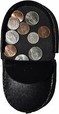 Unisex Leather change purses, Coin case, Vintage styled change purse, BNWT