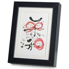 Peace and Love Black Frame A5 Japanese Print