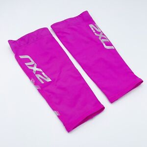 2XU Calf Sleeves Compression Performance Running Unisex Size XS Hot pink 1 Pair