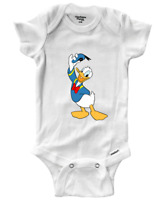 Infant Gerber Onesies Bodysuit Baby shower Gift Donald Duck Classic Walt Disney