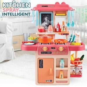 Kids Kitchen Playset Pretend Play Set Girls Cooking Large Big Toy Best Xmas Gift