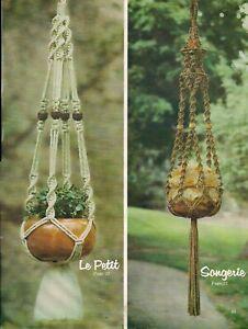 Plant Hanger Patterns - Many Variations - BOOK ONLY: # GS4M Macrame Elegance IV