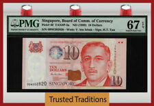 TT PK 40 ND (1999) SINGAPORE BOARD OF COMM. OF CURRENCY 10 DOLLARS PMG 67 EPQ!
