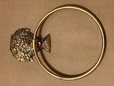 Vosarea Toalla de cobre anillo oval toallero titular retro toallero montado en la pared para ba/ño ba/ño cocina antiguo