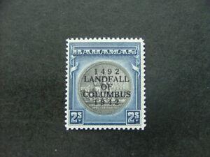 Bahamas 1942 Landfall 2/- slate-purple & indigo SG172 LMM