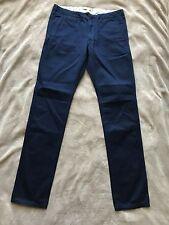 INES DE LA FRESSANGE pour UNIQLO PANTALON habillé coupe droite  bleu T 38/40