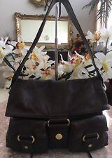 NEW UGG Brown Leather Flap Hobo Shoulder Bag Handbag Tote WPL 9522, $298