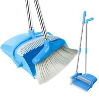 Broom and Dustpan Set Standing Upright Dust Pan Long Handled Lobby Broom Kitchen