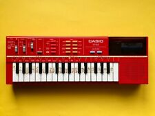 CASIO PT 82 ROM Electronic Synthesizer E Piano OVP Rot KEYBOARD Retro Computer 1