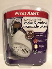 First Alert BRK SC-9120BCN Hardwire Combination Smoke/Carbon Monoxide Alarm NEW