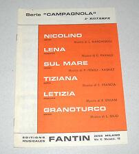 Spartiti SERIE CAMPAGNOLA Fantin 1983 Orchestra Liscio Fisarmonica Nicolino