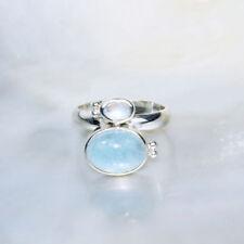 Natürliche Echtschmuck-Ringe aus Sterlingsilber Mondstein