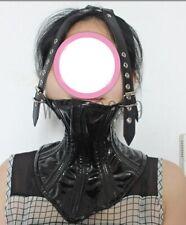 Bondage Head Harness Belt Posture Collar Over Mouth Neck Corset Slave Restraint