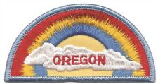 Oregon Patch - Rainbow and Clouds (Sew on)
