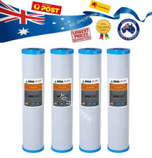 "4 X Big Blue 0.5 Micron Coconut Carbon Water Filter Cartridges 4.5"" x 20"""