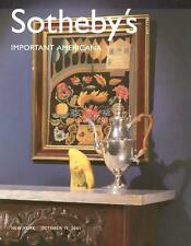 Sotheby's NY7705 Americana Folk Art Auction Catalog 2001