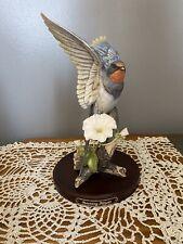 Homco Beautiful Classic Porcelain Morning Flight American Swallow 1990 Base
