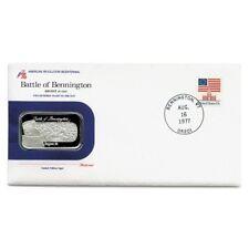 USA Battle of Bennington 1 Ounce 1977  Silver Ingot Postmarked