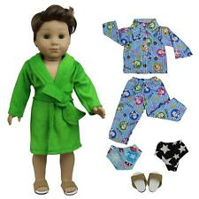 5pcs Nightdress Pajamas Outfit Clothes Costume for America 18 inch Boy Doll Us