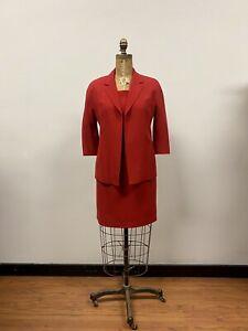 MAX MARA Red 2 Piece Dress & Blazer Suit Wool, Italy, Classic!