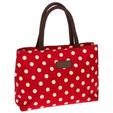 daa0448705 Equilibrium Spots Waterproof Handbag Red Cream Storage Shopping Gift Novelty