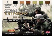 LifeColor CS05 German WWII Uniforms Set 2 6x 22ml Acrylic Colours