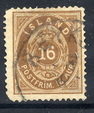 ICELAND 1883 16 aurar brown, used