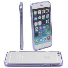 PURPLE iPHONE 6 APPLE 4.7 CASE HARD BACK CLEAR TPU SILICONE BUMPER COVER M42
