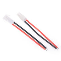 1 Pair Mini Tamiya Connector Male & Female 2pin Battery wire 16AWG  ^