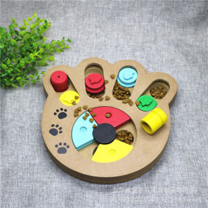 Pet Toy Dog IQ Training Game Plate Pet Dog Bowl Slow Feeder Hide & Seek Bone Toy