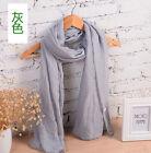 Women's Fashion Long Candy Colors Soft Cotton Scarf Wrap Shawl Scarves Stole A3